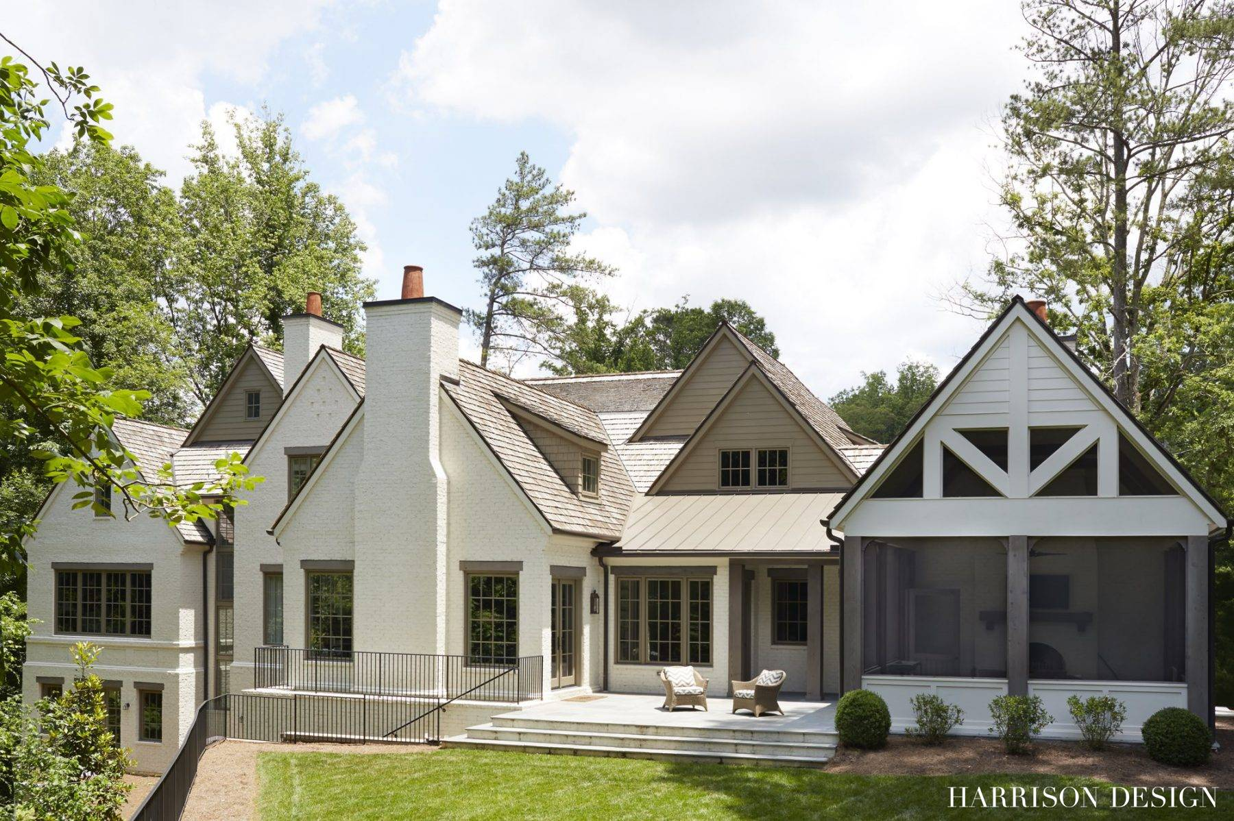 Transitional french farmhouse harrison design for French farmhouse architecture