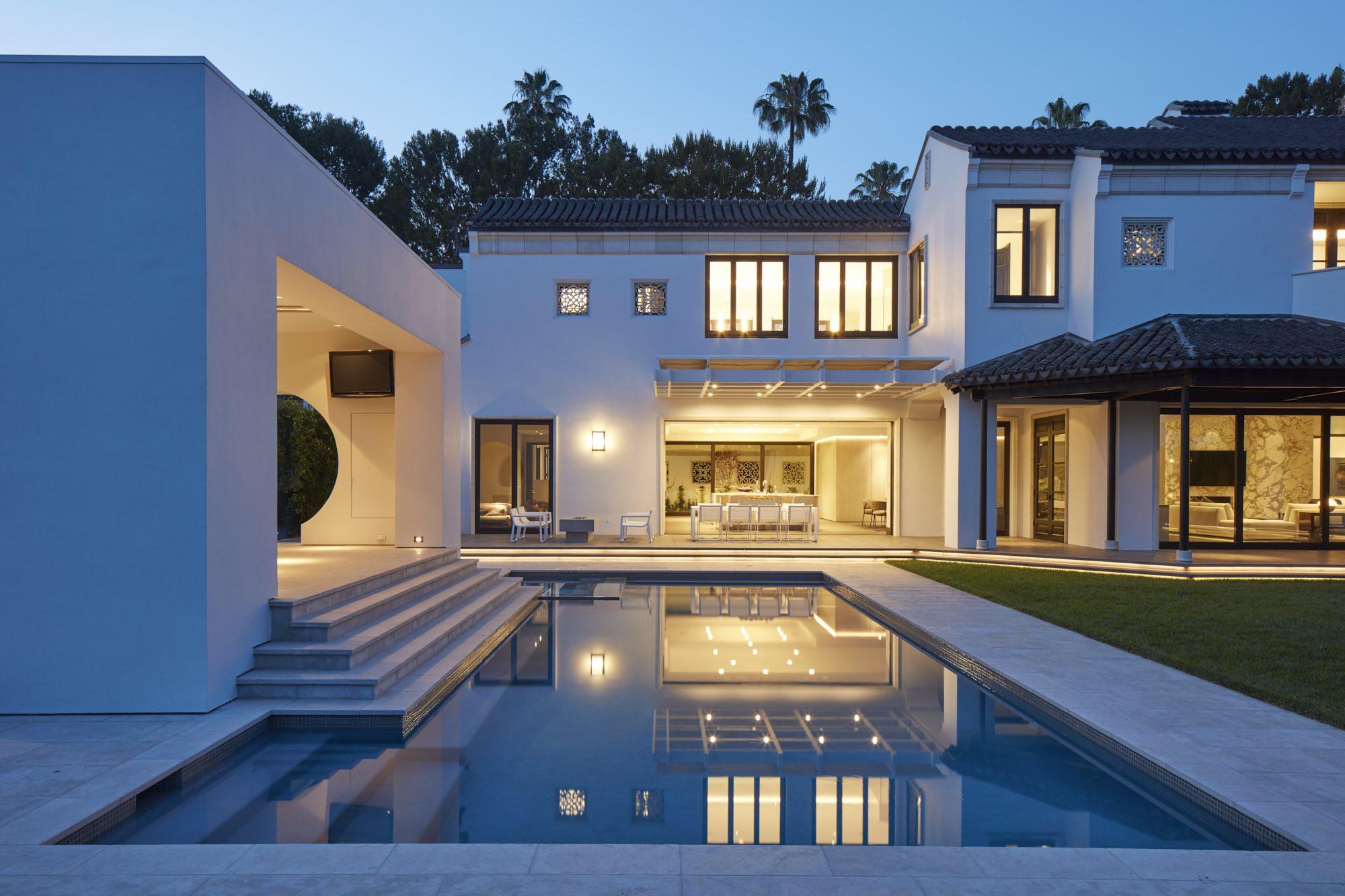 Modern Villa Ornamental Chinese Interior Design Beverly Hills